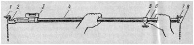 Телескопическая линейка для замера схождения колес своими руками