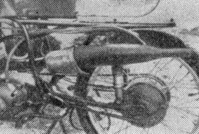 Выпускная система двухтактного гоночного двигателя мотоцикла MZ-125