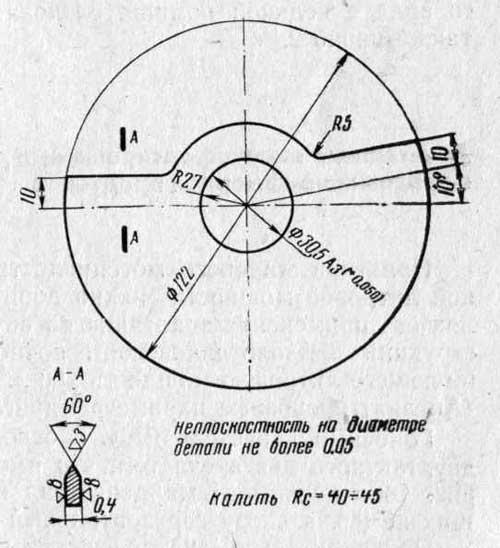 Дисковый золотник двигателя С2-125