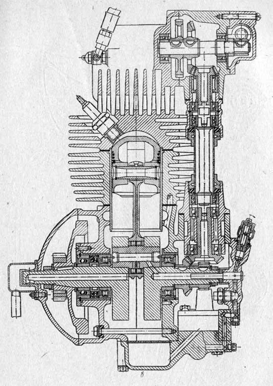 Схема гоночного двигателя С157А