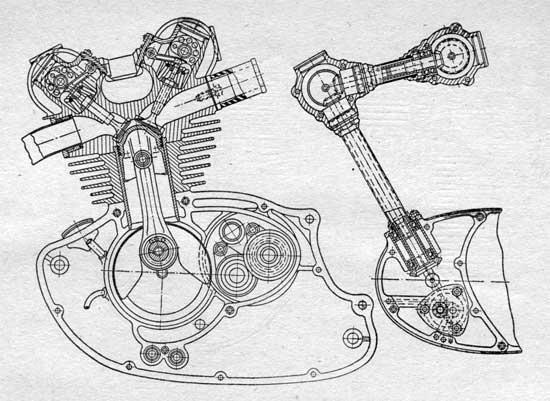 Схема гоночного двигателя С159