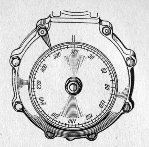 Градуированный диск для снятия фаз распределения