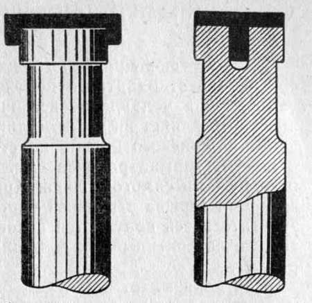 Схема способа постановки закаленных колпачков на клапане