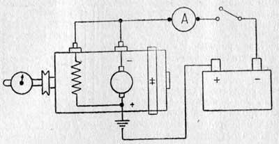 Принципиальная схема проверки работы генератора