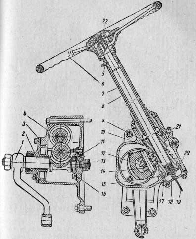 Рулевой механизм тракторов МТЗ5Л, МТЗ5М, МТЗ7Л и МТЗ7М