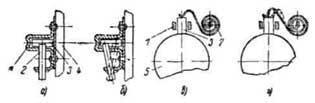 Схема расположения пружин щеткодержателей стартера