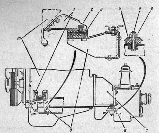 Крепление двигателя 3M3-53 на раме
