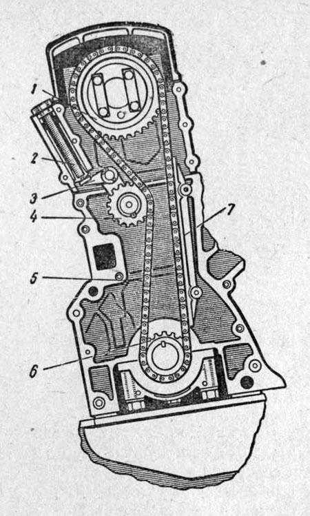 Ценной привод распределительного вала двигателя АЗЛК-412