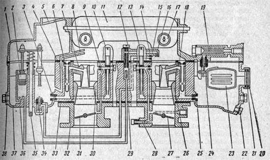 Схема карбюратора К-126Н
