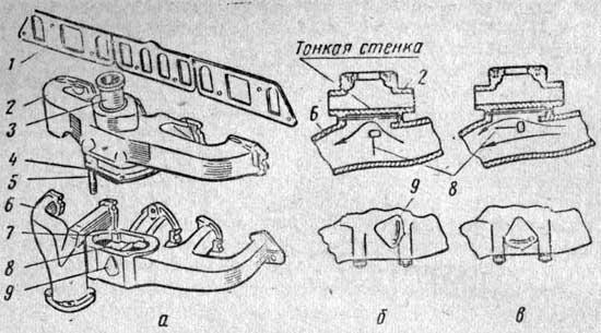 Устройство для подогрева горючей смеси двигателя ГАЗ-51