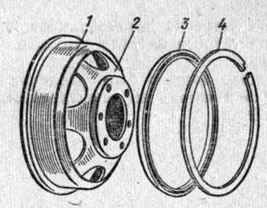 Диск колеса с плоским ободом автомобиля ГАЗ-51А