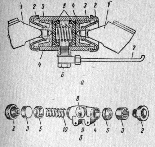 Тормозной цилиндр колеса автомобиля ГАЗ-53А