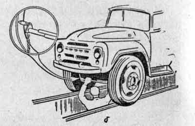 Линейка для проверки схождения передних колес