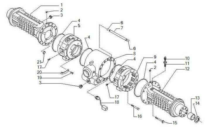 Оригинальные детали для различных типов спецтехники от компании Carraro
