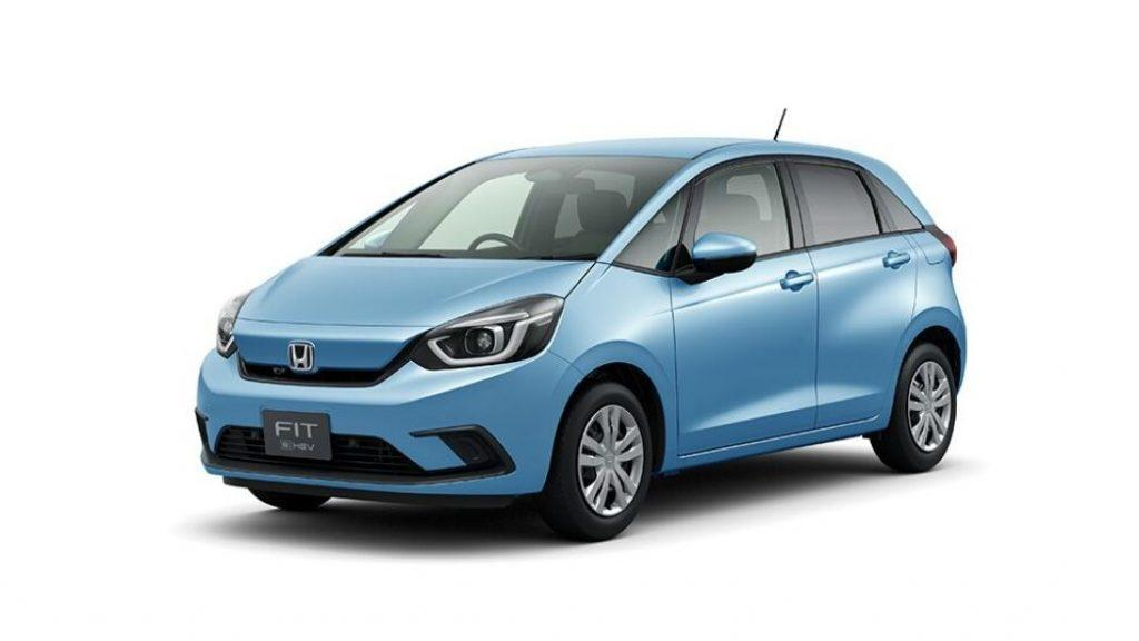 Электро-приводная Хонда Фит голубого цвета